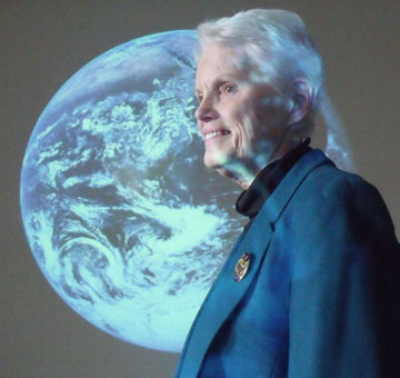 Sister Cathleen Real gives educational presentations about climate change.