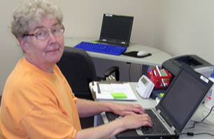 Sister Nancy Schwieters is a Job Connect Computer Lab Mentor at Humility of Mary Shelter.